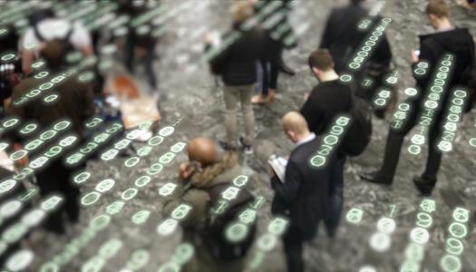 Daten schwirren umher