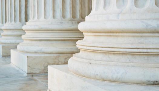 Säulen aus Marmor stehen für Pillar Content