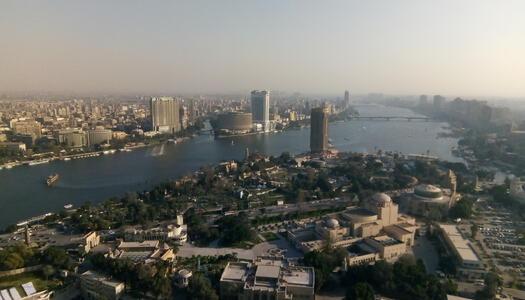 Wenn ich nicht gerade texte, genieße ich vielleicht gerade die Aussicht vom Cairo Tower :)